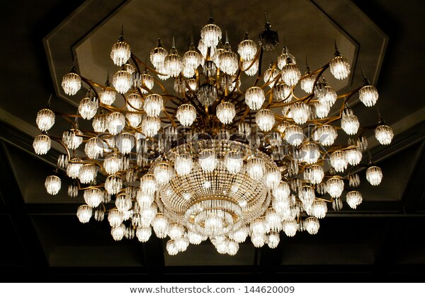 Big Crystal Chandelier Ancient Palace Stock Photo (Edit Now) 1446200