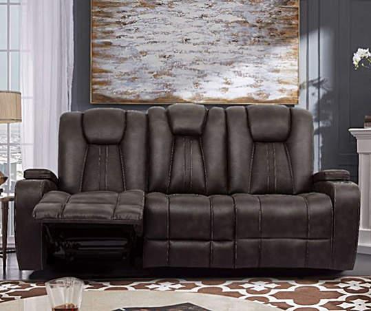 Jamestown Espresso Motion Sofa | Big Lo