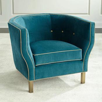 Ty131 Hotel Furniture Italy Style Velvet Sofa Vip Chair Design Set .
