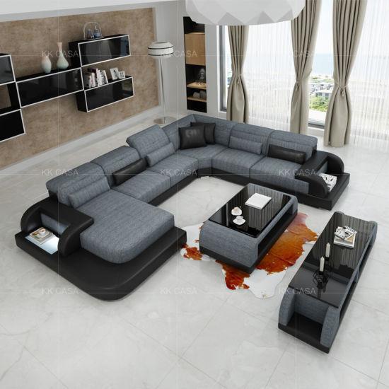China Design Italian Modern U Shape Sofa Big American Furniture .
