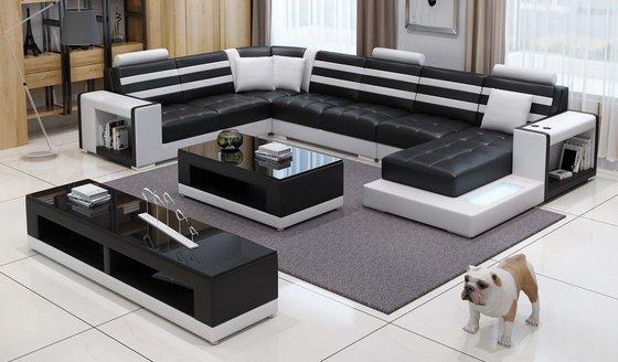Modern Furniture Big Siz U Shape Leather Corner Sofa(id:10244014