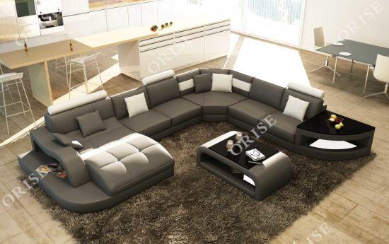 China Black U Shaped Big Sectional Sofa Set for Livingroom - China .