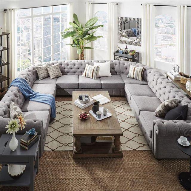Source A Beautiful Anthropoligie Sofa Piece Big U Shape .