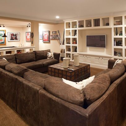 Large U-shaped sectional. Excellent gathering spot for the .
