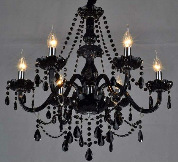Black Chandelier DIY -- but all white to hang above the altar. I .