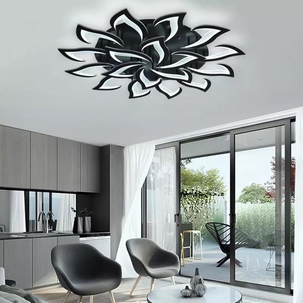 led Black Chandelier Living Room Bedroom Home chandelier by sala .