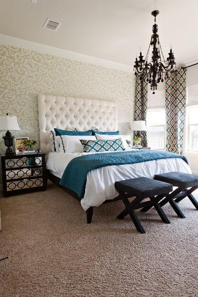 black chandelier in bedroom - Your design partner L