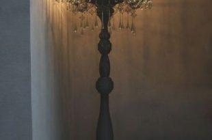 Standing chandelier floor lamp to decorate your modern room .