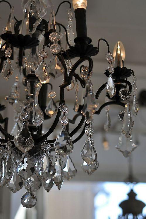 Black & Crystal... | Black chandelier, Chandelier, Beautiful .