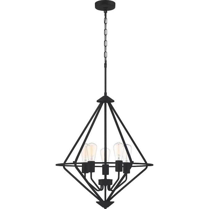 Quoizel Jada 5-Light Matte Black Modern/Contemporary Chandelier in .