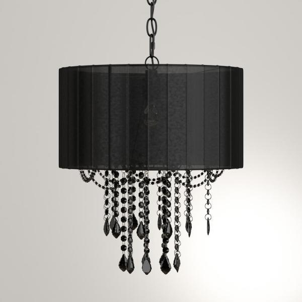Tadpoles 1-Light Black Chandelier Shade-cchash020 - The Home Dep