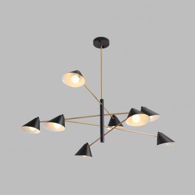 Metal Conical Shade Pendant Light 4/6/8 Lights Contemporary .