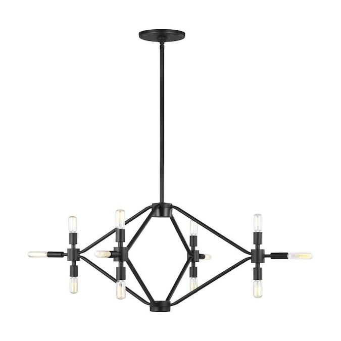 Sea Gull Lighting Wyn 12-Light Midnight Black Modern/Contemporary .