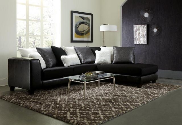 Jitterbug Black Sectional Sofa | My Furniture Pla