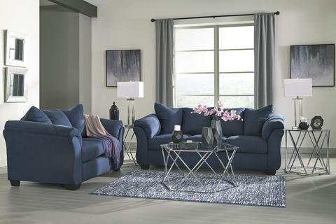 Darcy Blue Sofa and Loveseat | Mealey's Furnitu