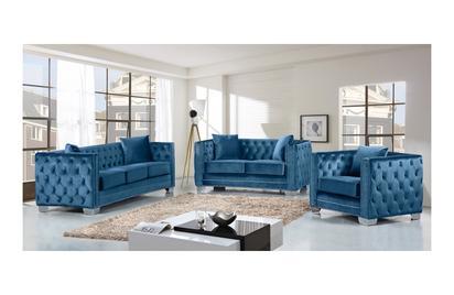 Destry Light Blue sofa set -Buy ($1100) in a modern furniture .