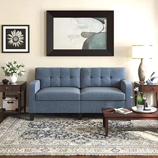 Amazon.com: Dorel Living Zakari, Blue Sofa: Furniture & Dec
