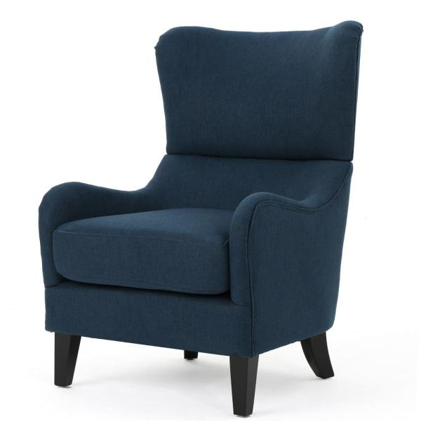 Noble House Quentin Navy Blue Fabric Sofa Chair-12566 - The Home Dep