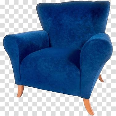 Blue sofa chair, Armchair Blue transparent background PNG clipart .