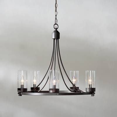 Hankinson 5 - Light Globe Chandelier | Farmhouse dining room .