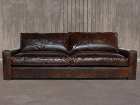 The Braxton Twin Cushion Leather So