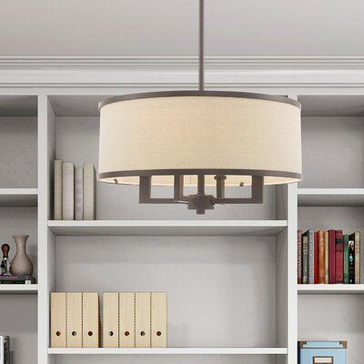 Latitude Run Breithaup 4-Light Drum Chandelier Finish: Bronze .