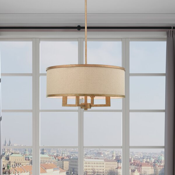 Breithaup 4 - Light Drum Chandelier & Reviews | Joss & Ma