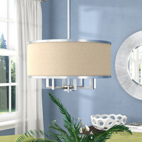 Latitude Run Breithaup 4-Light Drum Chandelier & Reviews | Wayfa