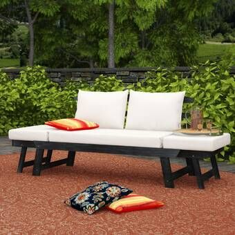 Brennon Cube Patio Daybed with Cushions in 2020 | Patio daybed .