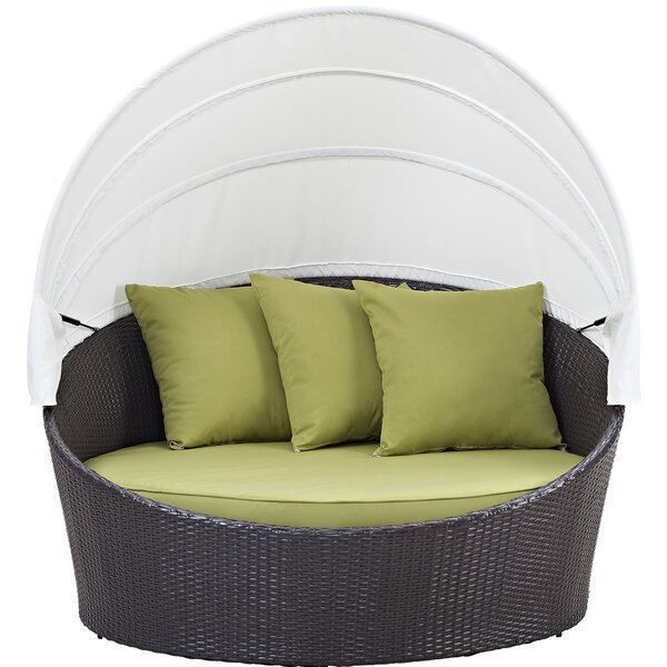Sol 72 Outdoor™ Brentwood Canopy Patio Daybed with Cushions .