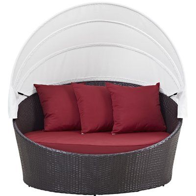 Sol 72 Outdoor Brentwood Canopy Patio Daybed with Cushions | Patio .