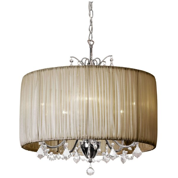 Willa Arlo Interiors Juno 5 - Light Shaded Drum Chandelier .