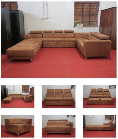 Mood of Wood 'C' shaped sofa set – Furniture Showroom In Gandhinag