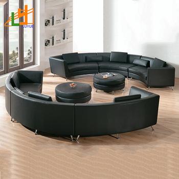 hot sale fashion design wooden frame 6 seater sofa set c shaped .