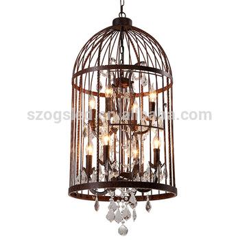 Vintage Antique Cage Chandeliers Pendant Light American Style .