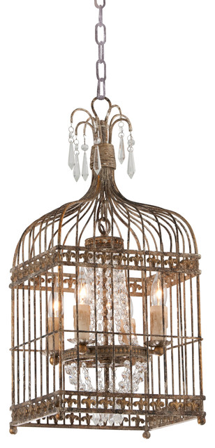Metal Bird Cage Chandelier - Traditional - Chandeliers - by .
