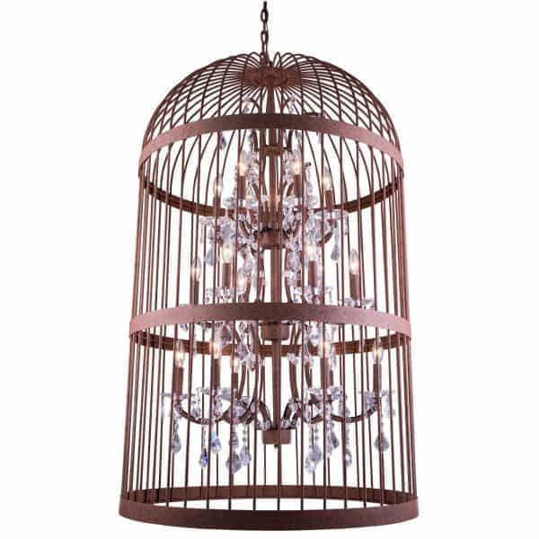 "Bernard 18-Light 30"" Wide Caged Crystal Chandelier 