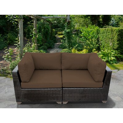 Camak Patio Loveseat with Cushions Rosecliff Heights Cushion Color .