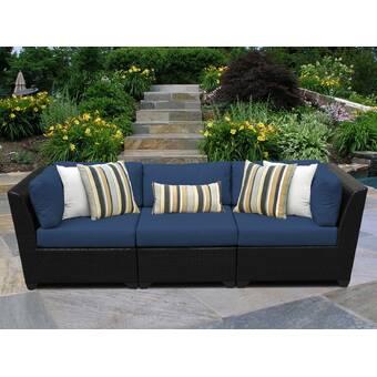 Camak Patio Sofa with Cushions & Reviews | Joss & Ma