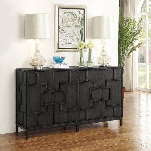 Candide Wood Credenza | Wood credenza, Grey wood, Furnitu