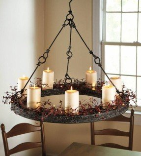Wrought Iron Candle Chandelier - Ideas on Fot