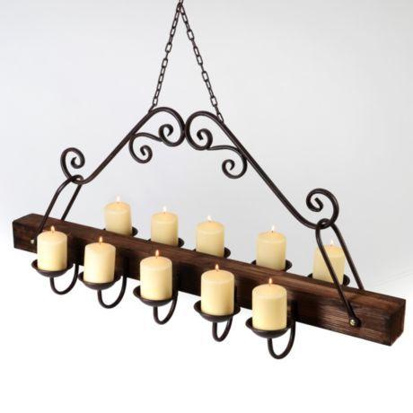 Rustic Hanging Candle Chandelier #kirklands #westernsunset. I .