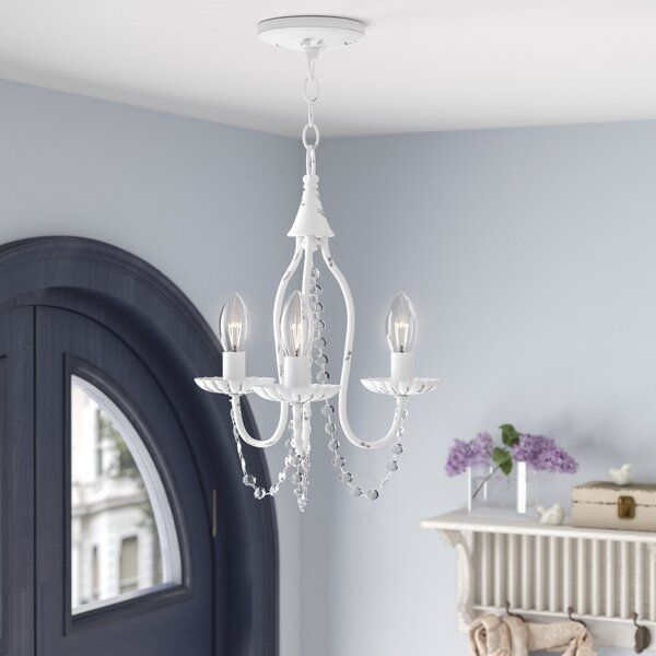 Andrews 3-Light Candle Style Classic / Traditional Chandelier with .