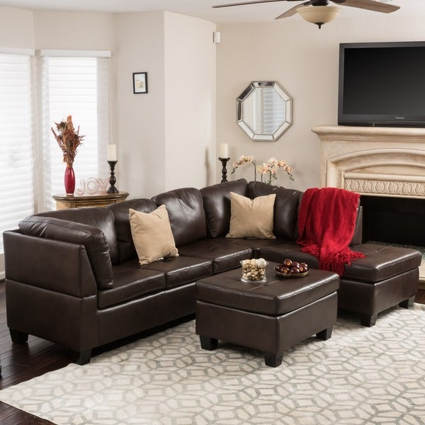 Shop Canterbury 3-piece PU Leather Sectional Sofa Set by .