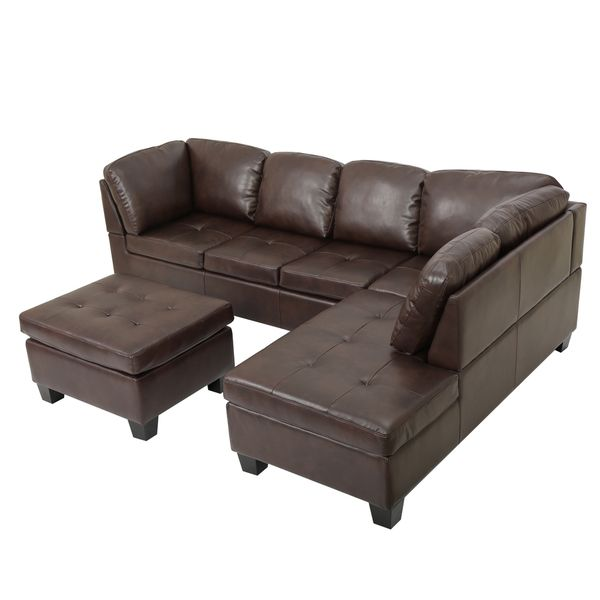 Canterbury 3-piece PU Leather Sectional Sofa Set by Christopher .