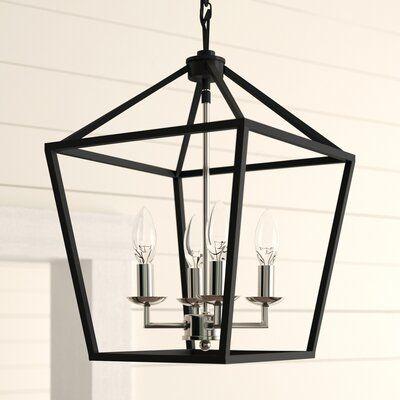 Laurel Foundry Modern Farmhouse Carmen 4 - Light Lantern Geometric .
