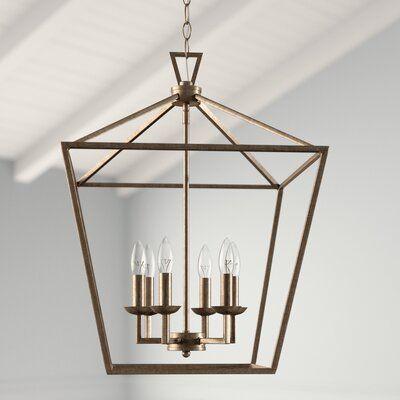 Carmen 6 Light Lantern Geometric Pendants