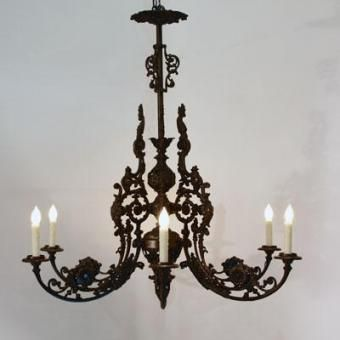 MALLERIES Antique & Luxury Mall | Iron chandeliers, Victorian .