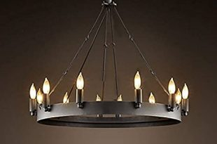 Amazon.com: LAKIQ 12 Lights Black Wrought Iron Chandelier .