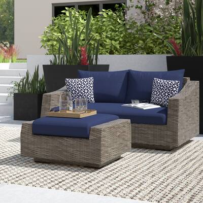 Wade Logan Castelli 8 Piece Rattan Sofa Seating Group with .